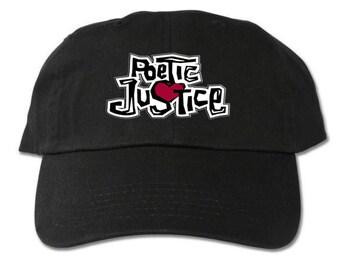 Poetic Justice Unstructured Black Dad Hat d1919e9e704