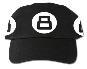 More colours. 8Ball Unstructured Black Dad Hat 37a590dab91f