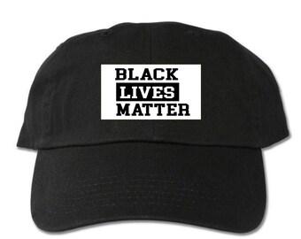 Black Lives Matter Unstructured Black Dad Hat 22b49cc6ca6c
