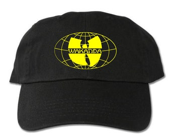 7c0a5021d94 Wakanda Worldwide Unstructured Black Dad Hat Wu Tang