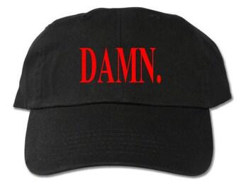 DAMN Unstructured Black Dad Hat b21659336126