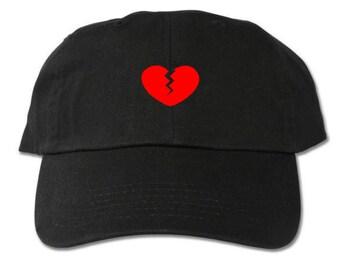 621737afe10 Heartbreak Heart Unstructured Black Dad Hat