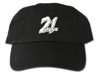 21 Savage Unstructured Black Dad Hat 2a152d4393eb