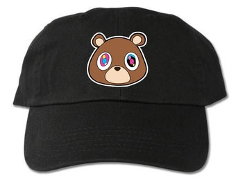 57e03d10fec5b Graduation Bear Unstructured Black Dad Hat