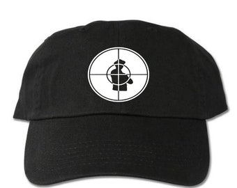 eaa9b282094 Public Enemy Target Unstructured Black Dad Hat