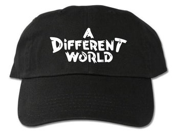 c2b453173e5 A Different World Unstructured Black Dad Hat