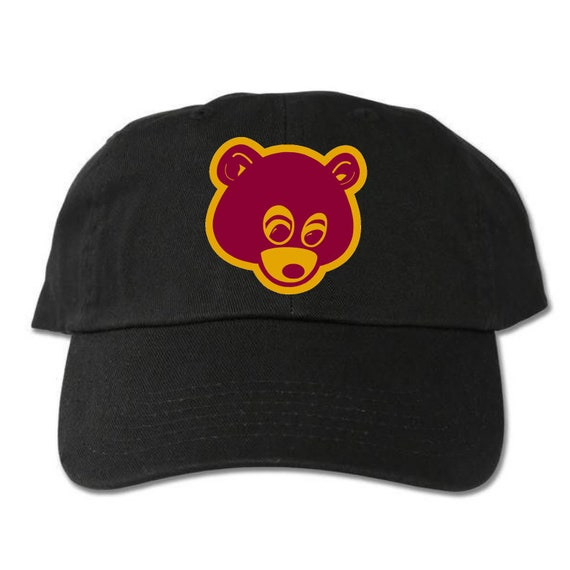 College Dropout Bear Unstructured Black Dad Hat  74107ee804f