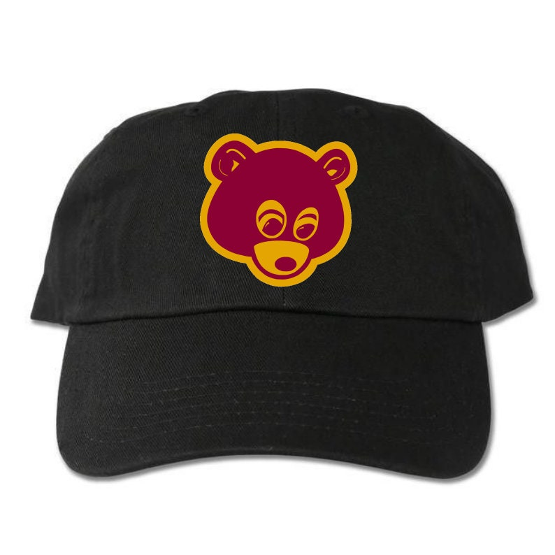 55583f37510ee College Dropout Bear Unstructured Black Dad Hat