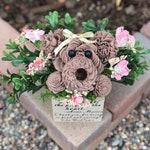 Dog Flower Arrangement / Birthday Gift / Dog Gift / Dog Mom / Dog Gift For Owner / Dog Memorial Gift / Loss of Dog / Custom Gift