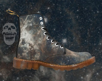 5518b4187d71c Tarantula Nebula - space print - men s lace-up combat boots