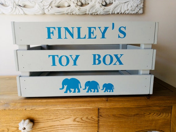 Personalised toy box, storage for children's bedroom