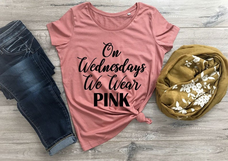 fa40d9cc On Wednesdays We Wear Pink Shirt Mean Girls Shirt Mean | Etsy