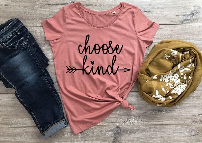 c416e272 Choose Kind Shirt Tshirt Women Women's Shirt Shirts for | Etsy