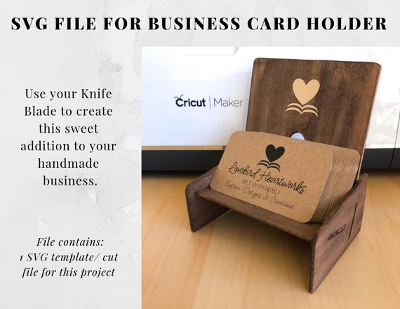Business Card Holder Svg Cut File Cricut Knife Blade For Etsy