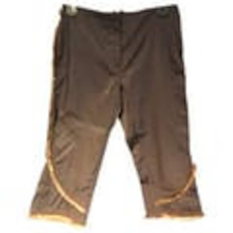 Vintage Capri Pants With Fur Trim Barbara Bui Pants with Rabbit Fur Trim