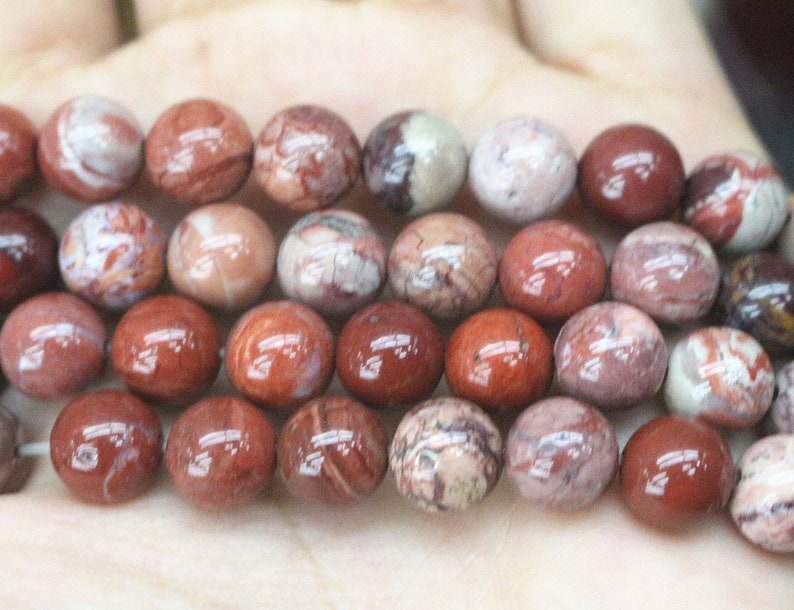 6mm 8mm 10mm 12mm Red Procelain Beads supply,Loose Beads Wholesale Natural Red Procelain smooth round Beads
