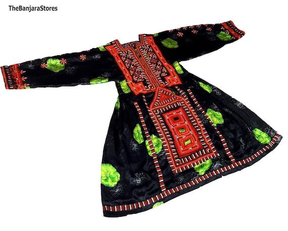 Balochi Traditional Dress Luxury Traditional banjara Dress Afghanistan Amazigh Vintage Handmade Balochi Embroidery Dress BOHO AFGHANI DRESS