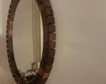 Spiegel Houten Rand : Ovale spiegel etsy