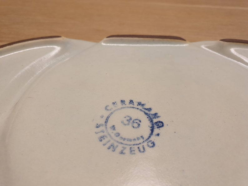 marked Beautifully 70s Ceramano ceramic  serving-bowl or . plate