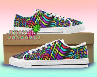 THE MATRIX Canvas Shoes Rave Outfit Rave Clothing Music Festival Clothing  Custom Vans Shoes Vans Old School Converse Canvas Sneakers EDM 2d77c41995