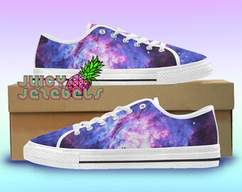 1787b4fb70f9 GALAXY CLUSTER Canvas Shoes Rave Outfit Rave Clothing Music Festival  Clothing Custom Vans Shoes Vans Old School Converse Canvas Sneakers EDM
