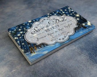 Winter Wedding Save the Date Cards - Personalised Party Prints