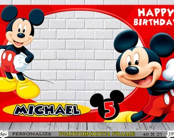 Mickey Mouse Frame Etsy