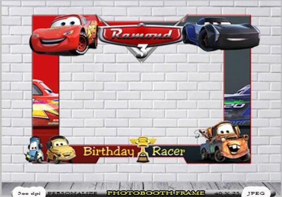 Cars Photo Booth Cars Birthday Frame Disney Cars Photo Etsy
