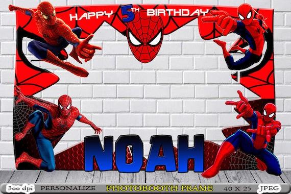 Spiderman Photo Booth // Spiderman Birthday Frame // Spiderman   Etsy