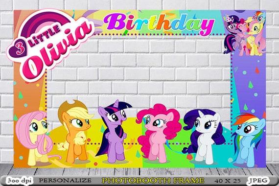 My Little Pony Photo Booth My Little Pony Birthday Frame My Etsy