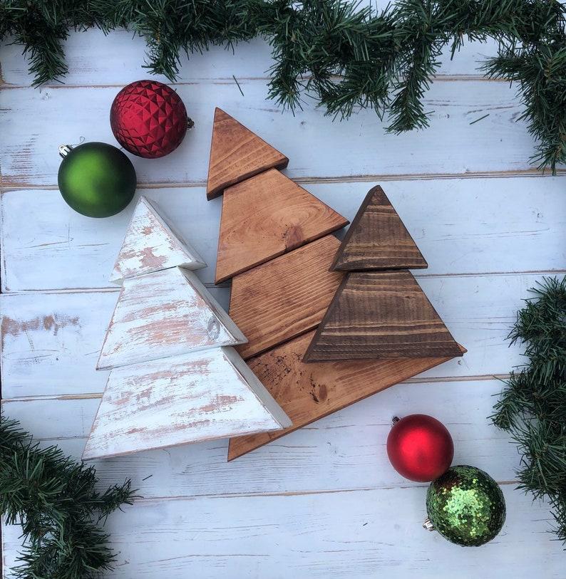 Rustic Wood Christmas Trees Farmhouse Christmas Trees Set Of Etsy