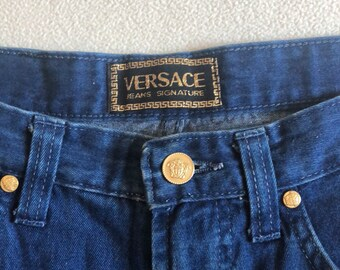 6d2c3685a7cd VERSACE Jeans Signature Vintage 90 s High Waisted Jeans Size 32