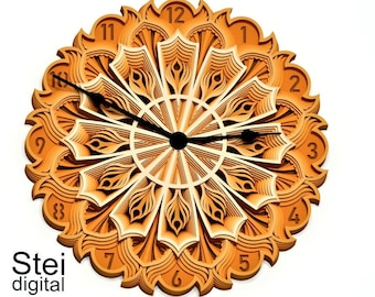 Download Clock Mechanism 3d Mandala Svg Files Steampunk Style Multilayer Panel For Laser Cutting Layered Svg Files For Cnc Router Laser Or Cricut Blueprints Patterns Craft Supplies Tools Vadel Com