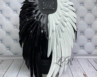 """Women's leather backpack """"Angel and Demon"""""""