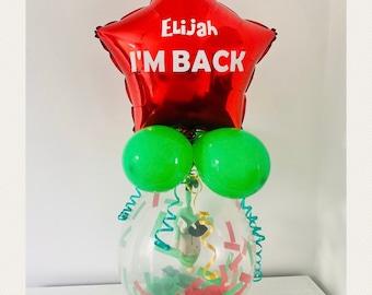 Personalised Elf Arrival Balloon Pop Me Elf Antics Advent Balloon Christmas 2021 DIY balloon kit