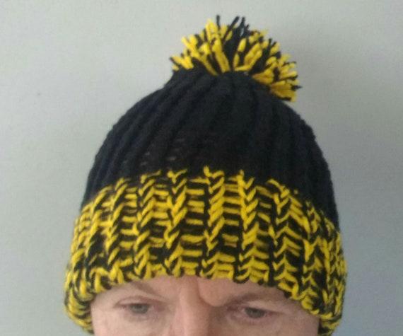 b174ca4f65e Handmade loomed knitted Pittsburgh Steelers winter hat