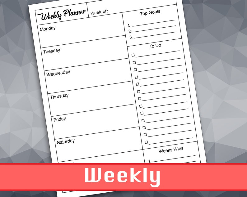 photograph relating to Printable Time Management Sheets identified as Weekly Planner Printable Season Handle Worksheet In direction of Do Record Intent Tracker College student Calendar Schedule Organizer Venture Designing