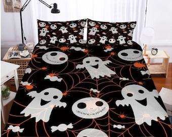 3d bedding set halloween print duvet cover set lifelike bedclothes with pillowcase bed set home textiles