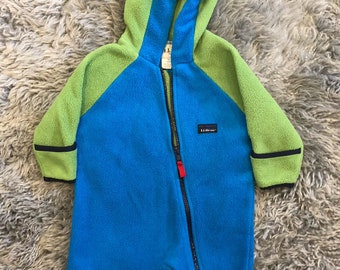 5e4044b7bb3 Vintage Ll bean size 6 months fleece coverall green and blue