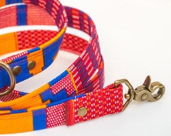 Dog Leash African Wax Print Kente Cloth >> BONFIRE