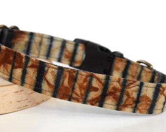 Burnt Orange Dog Collar Hand Dyed >> TERRACOTTA