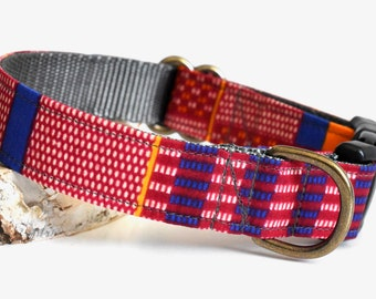 Dog Collar Kente Cloth African Wax Print >> Bonfire