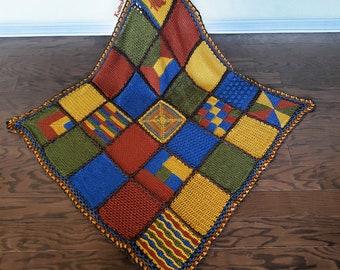 Tunisian Sampler Blanket (16 stitches)   Beginner Friendly   PDF   Instant Download   Learn Tunisian Crochet   Crochet Squares   Modern