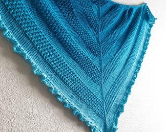 Ruffled Waters Shawl   Tunisian crochet pattern   PDF   Tunisian Knit Stitch   Lace pattern