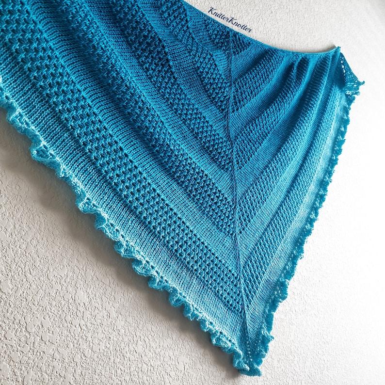 Ruffled Waters Shawl  Tunisian crochet pattern  PDF  image 0