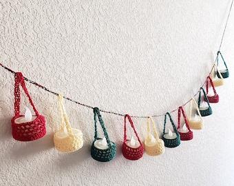 The Kandeel - Tea light candle cozy - Christmas garland - Holiday garland