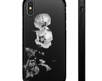 ae627d155dd Schwarze und weiße Blume Snap Fällen
