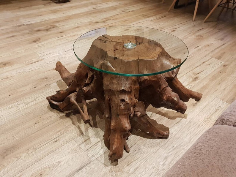 Merveilleux Tree Root Glass Coffee Table