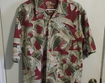 110972df7 Vintage 100% Silk Jamaica Jaxx men's size M medium Hawaiian shirt