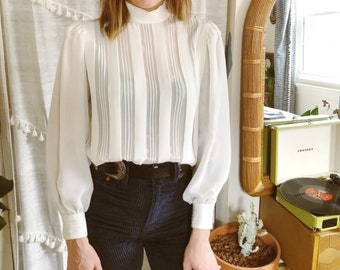 Vintage girl/'s 1980/'s does victorian blouse